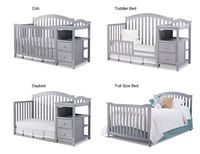 Video Review for Sorelle Berkley Crib and Changer - Gray showcasing product features and benefits