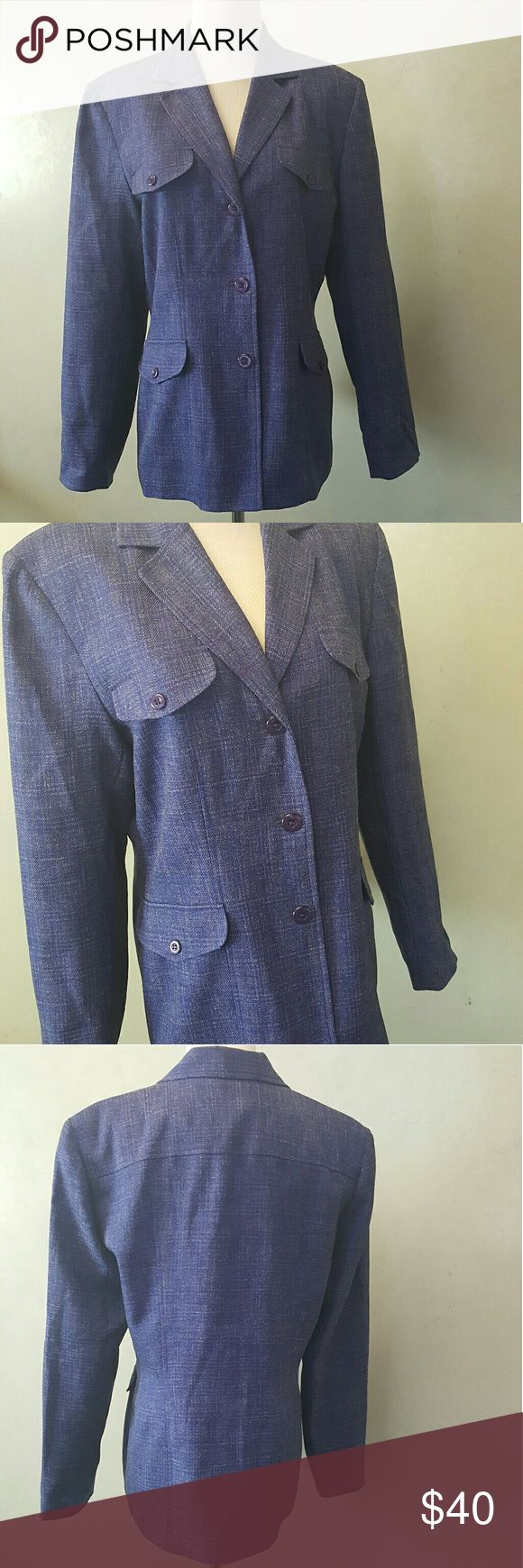 Blacker by Stanley Blacker blazer Blacker by Stanley Blacker royal blue blazer in perfect condition. Not actual pockets. Stanley Blacker Jackets & Coats Blazers