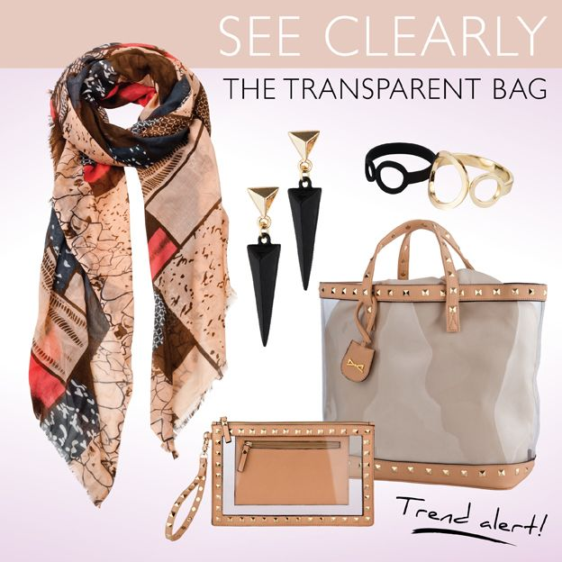 SEE CLEARLY The transparent bag