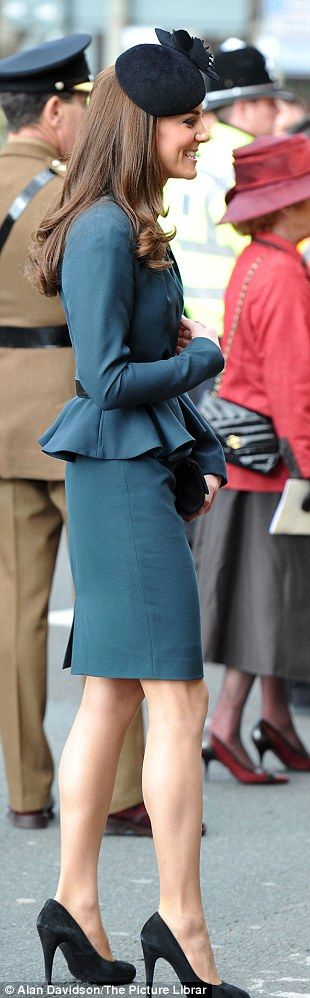Princess Catherine. So elegant. Wish we could all wear hats like that and still look beautiful.