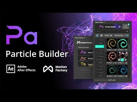 Particle Builder Plugin Free After Effects Motion Factory