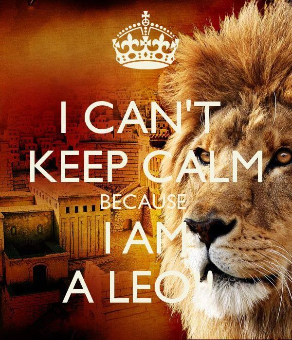 Because I'm a Leo and I have anxiety this is so Perfect!! Haha it's me im never calm -Michelle