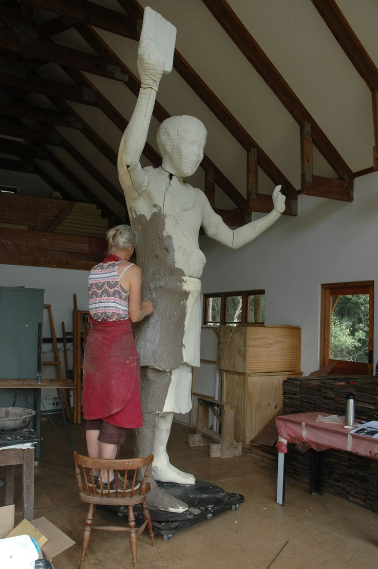 Work on this 3m high bronze has started. The maquette gives the client an opportunity to approve the 3D work on a small scale before it is scaled up to the final size. This sculpture will now be created in wax and cast into bronze.