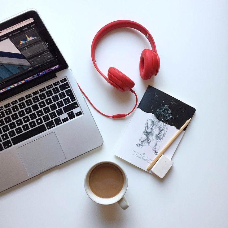 flatlay, coffee, beats, headphones,