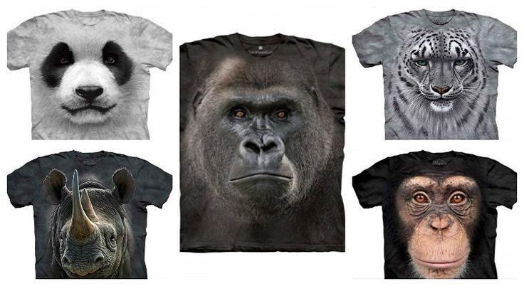 5 tricouri cu animale pe cale de disparitie din colectia Big Face Animals