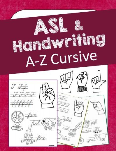Teach ASL (American Sign Language) and at the same time give your students handwriting practice! This unit contains both upper case AND lower case on each practice page A-Z.   Students will see a visual of each letter (in ASL), practice writing the letter in cursive, have related pictures to color as well as tracing each item's name in cursive