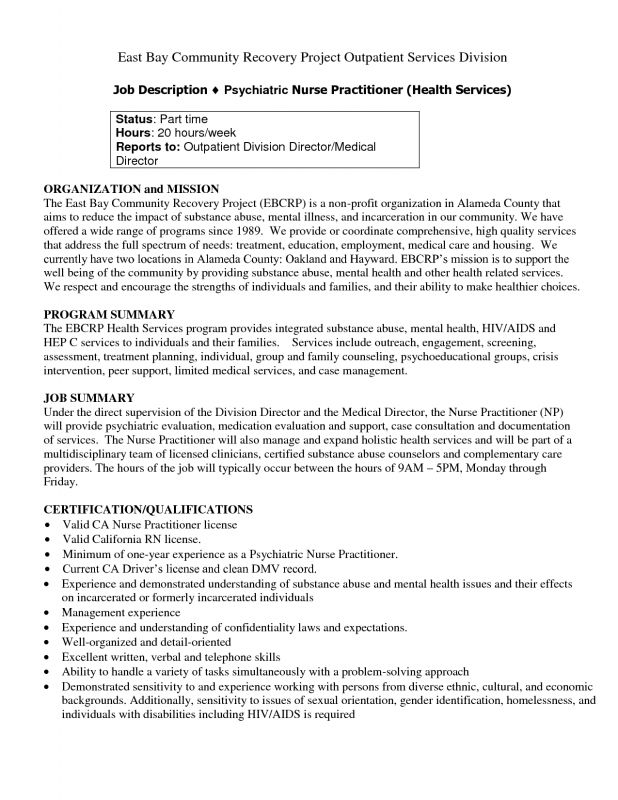 Program Director Job Description Sample Resume Registered Nurse - director of nursing job description
