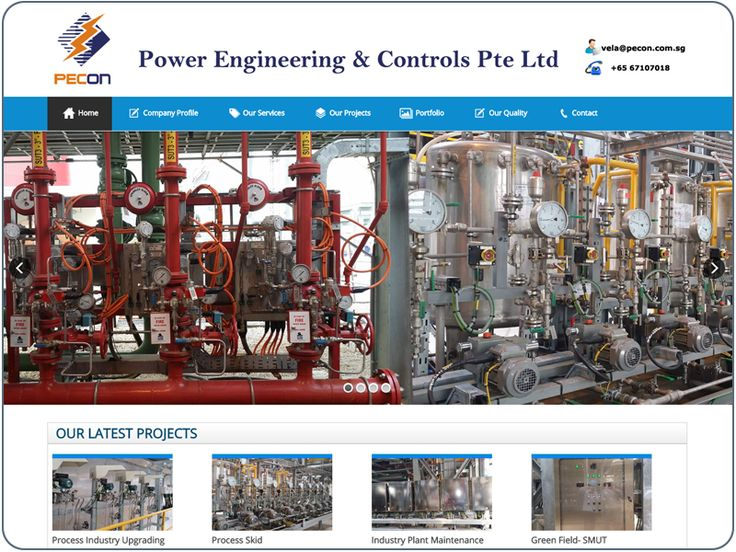 http://www.cheapwebdesign.com.sg/index.php/en/component/content/article/10-portfolio/cms-website/81-power-engineering Power Engineering & Controls Pte Ltd PECON is a growing and promising Singapore company, we started our journey in 2011 to work with Process and related industries in the undertaking of Electrical and Instrumentation Engineering service and contracts. We strongly committed to offering suitable product and services to our valuable customer with highest efficiency