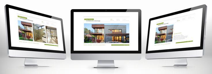 Minimalistische Webseite