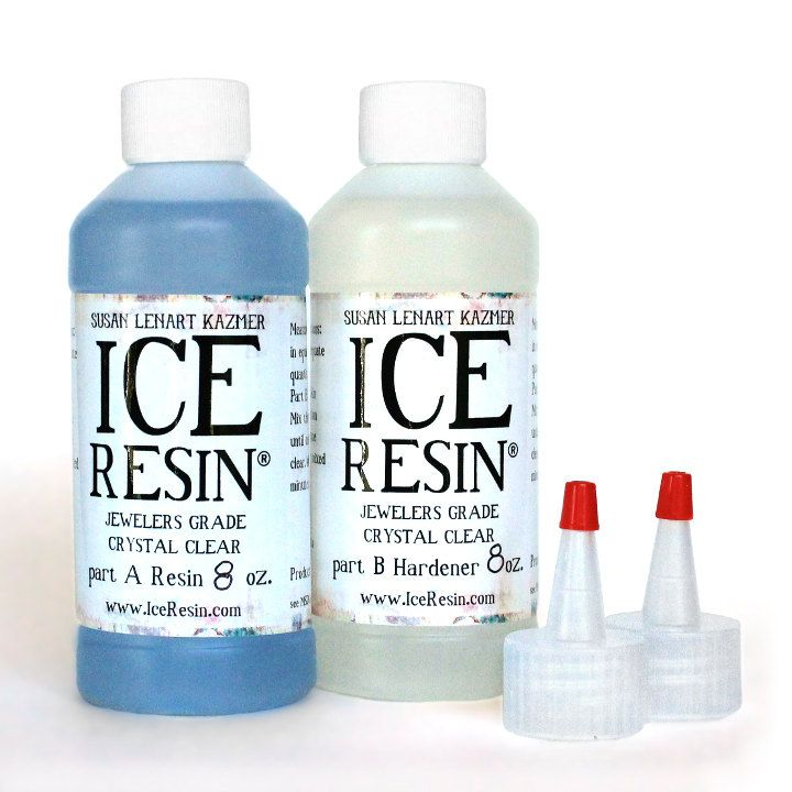 ICE RESIN 16 oz Refill Kit Ice Resin and Hardener Jewelers Grade Self Doming Clear Epoxy Resin No UV Lamp needed