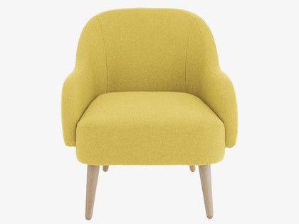 MOMO Saffron yellow fabric armchair