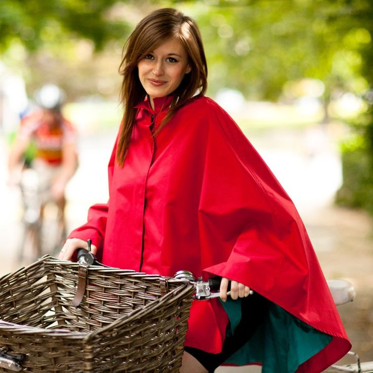 Water Off A Duck's Back Waterproof Cape (Red): This beautiful cape is designed to be cycled in.  It is waterproof and breathable - even though it is a cape, cycling can still be a hot business, so the fabric is breathable.  The discrete reflective piping is not only an attractive detail to the coat, but it makes the rider visible to other road users after dark. £69
