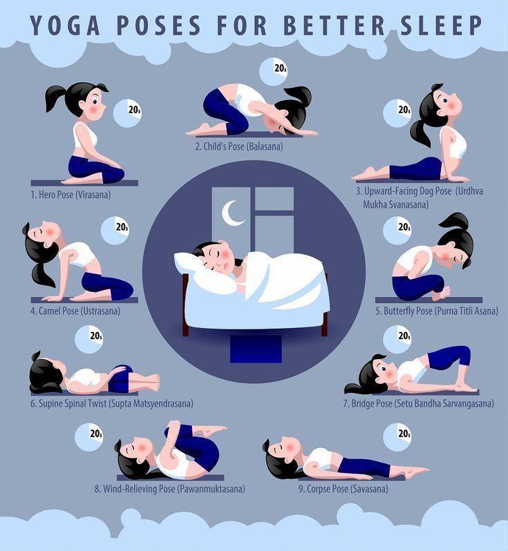 Warum versuchst du es nicht heute Nacht? #yoga #sleep #yogaposes #sleepbetter #sleepyo – Yoga & Fitness