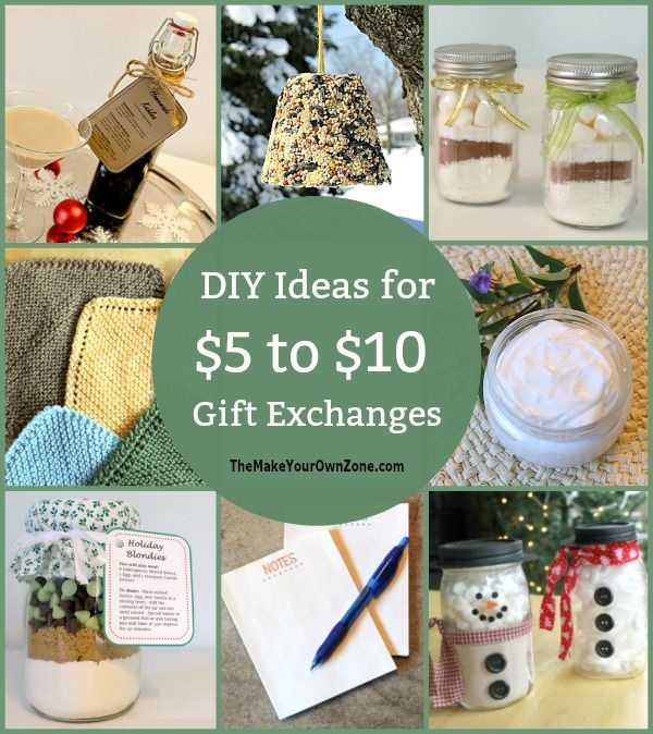 5 To 10 Gift Exchange Ideas The Make Your Own Zone Homemade Gift Exchange Christmas Gift Exchange Party Gift Exchange