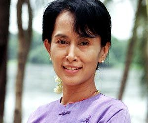 Ang Sang Suu Kyi - Recipient of many awards; Nobel Peace Prize, Sakharov Prize from the European Parliament, United States Presidential Medal of Freedom, the Jawaharlal Nehru Award from India, the Rafto Human Rights Prize - all for her courageous work as a pro-democracy leader in Myanmar (Burma). Much of her past 20 years has been under house arrest and detention but she has just been elected to a seat in Parliament (April 2012) as her nation moves toward democracy.