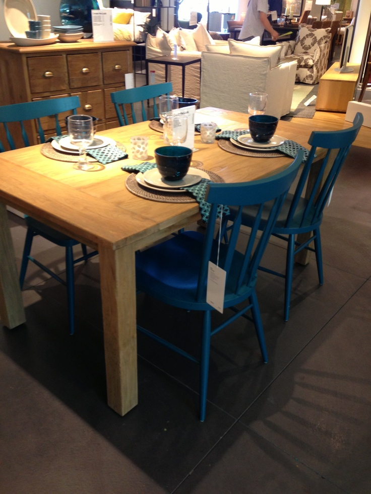 Turquoise Kitchen Chairs   Crate And Barrel Willa Peacock Side Chair