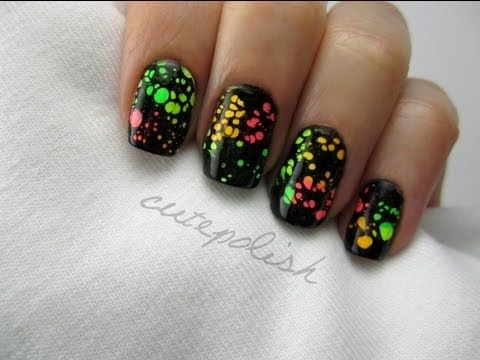 Water Spotted Nail Art