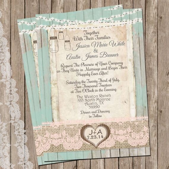 25+ best burlap wedding invitations trending ideas on pinterest, Wedding invitations