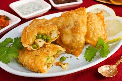 Deliciosas Samosas de la India en ESHCOL Fusión Asia Restaurante a Domicilio para el #lunes sin carne y #meat free monday...