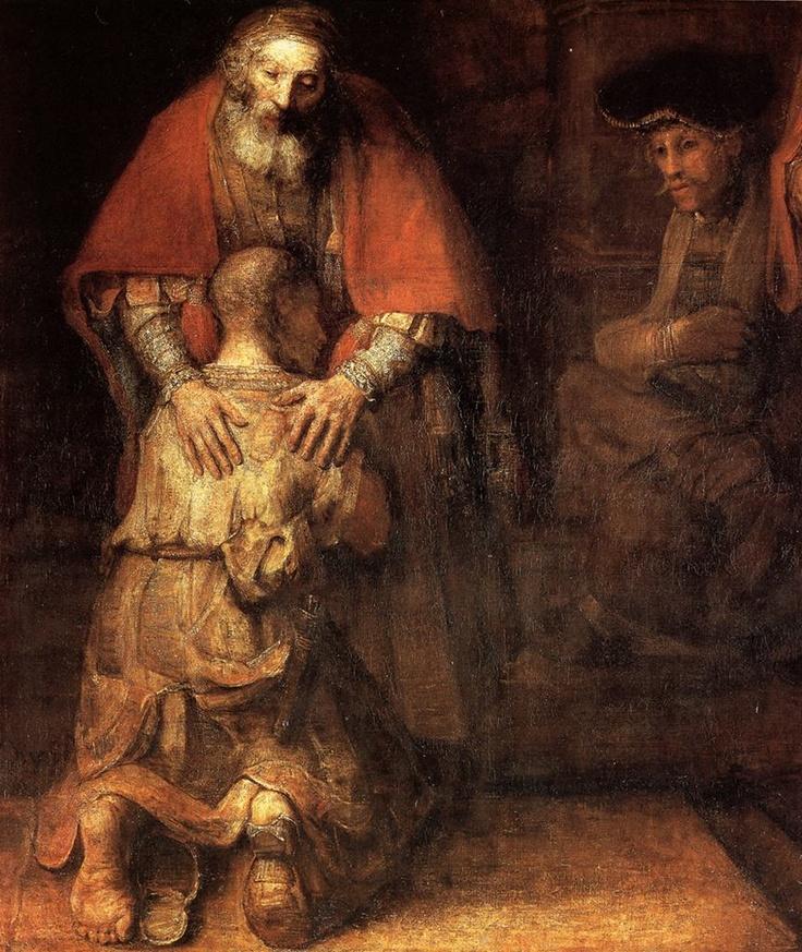 Rembrandt, Il figliol prodigo, Hermitage, San Pietroburgo