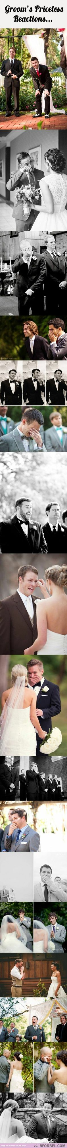I LOVE seeing an emotional groom!!