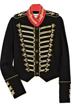 """""""Alice by Temperley"""" game structured-jersey military jacket. $375"""