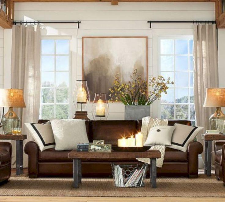 stunning brown leather living room furniture ideas 4 - Tpferei Scheune Kleine Wohnzimmer Ideen