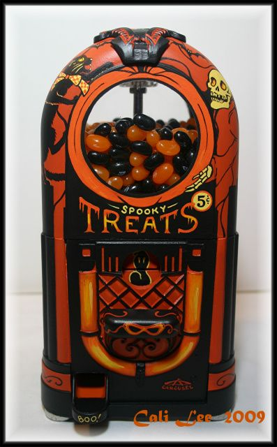 Spooky Treats jukebox candy container