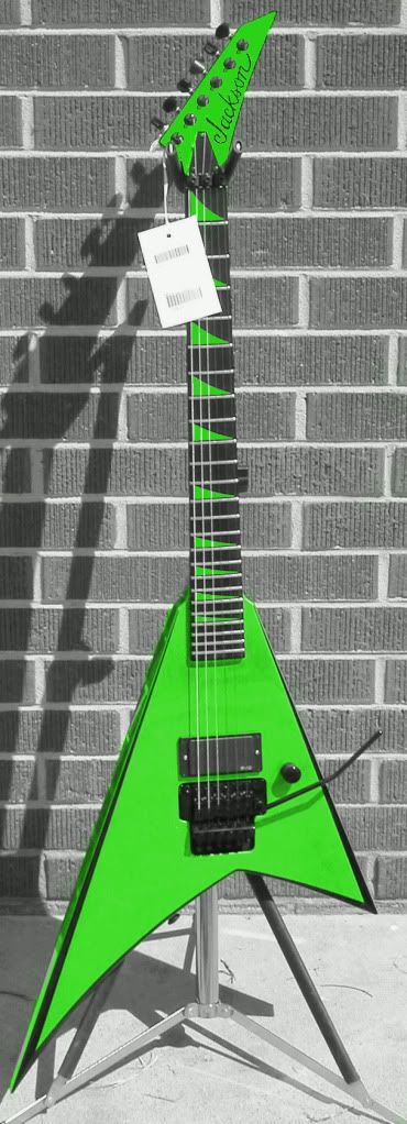 Jackson Rhoads Custom...'Personaly I'm not too crazy about Flying Vs, either basses ( I had a 1984 Kramer once, upside down orange four-string), or guitars, but this IS NICEEEEE! - R.A.S.