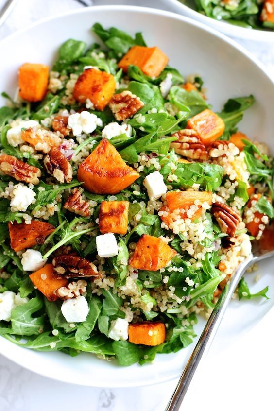 Roasted Sweet Potato and Quinoa Salad | Green Valley Kitchen                                                                                                                                                                                 More