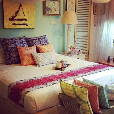 Guest room, decorated by Tan Living.