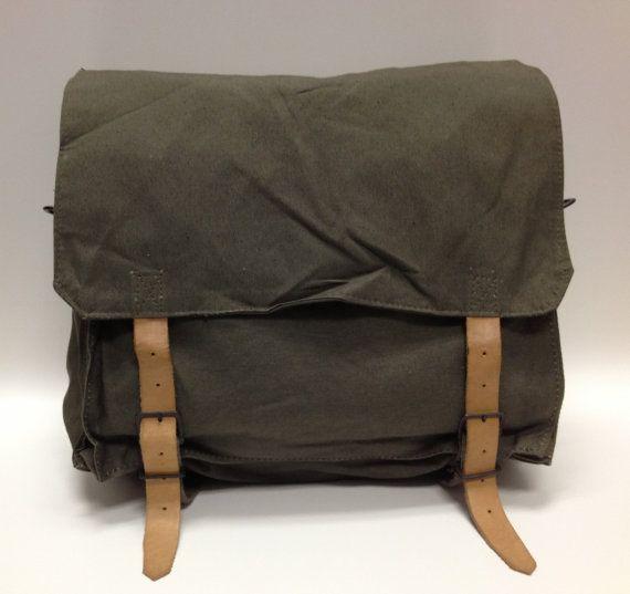 Yugoslavian Military Surplus Backpack Vintage by SurplusBikeBags, $60.00