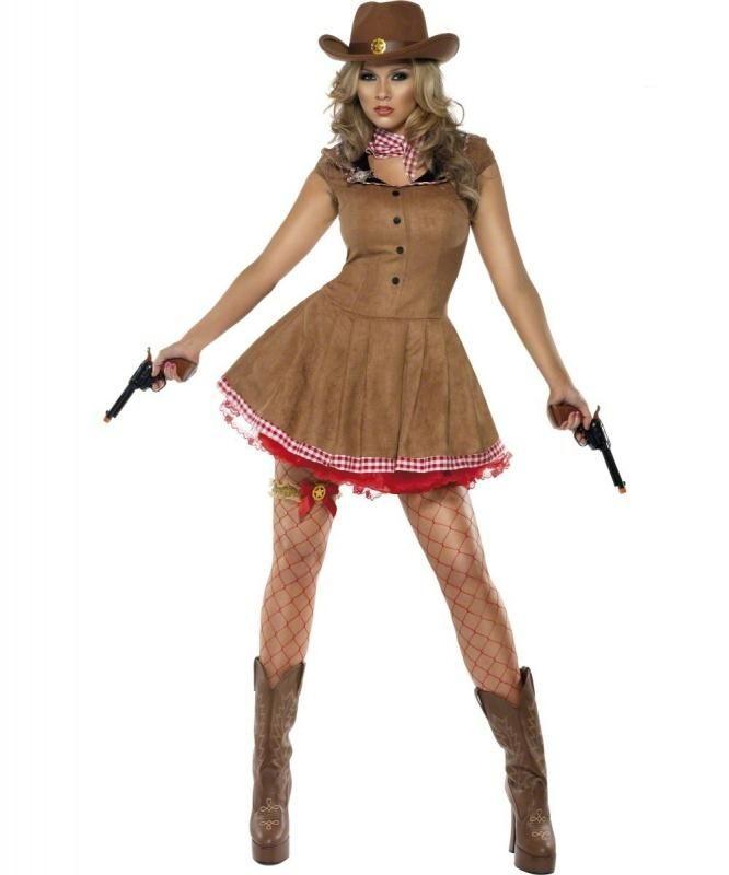 Strój Kowbojki dla kobiety. Wciel się w postać ostrej i nieugiętej kowbojki.