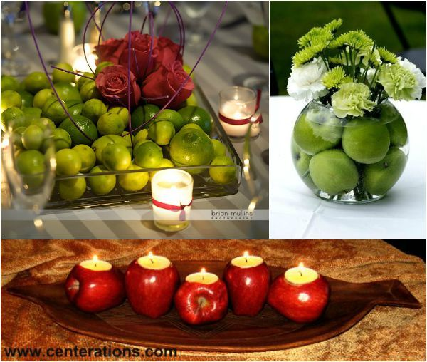 Apple Centerpieces for the Jewish High Holidays - View more Rosh Hashana Ideas on mazelmoments.com