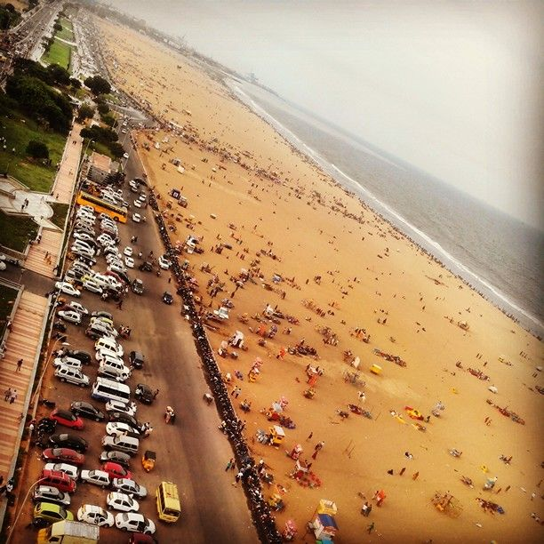View of marina beach from lighthouse