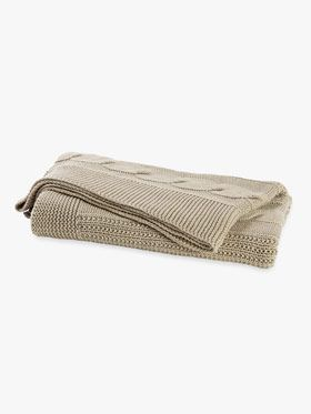Cable Knit Throw by Aura, available at Forty Winks.
