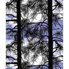 This fabric is Vallila Kelohonka in blue.