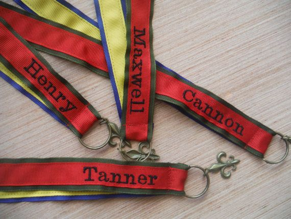 Scout Pin Brag Ribbon for scouting advancement pins - Mothers Brag Ribbon - Proud Parent Ribbon - Personalize it with your scouts name for a custom