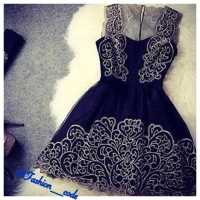 black simple dress