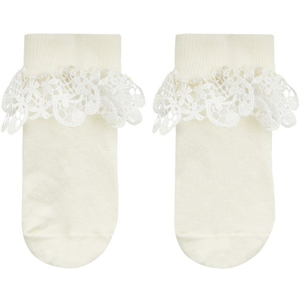 Monsoon Girl Flower Lace Socks (29.185 COP) ❤ liked on Polyvore featuring intimates, hosiery, socks, ankle high hosiery, floral socks, ruffle socks, lace ruffle socks and ankle high socks