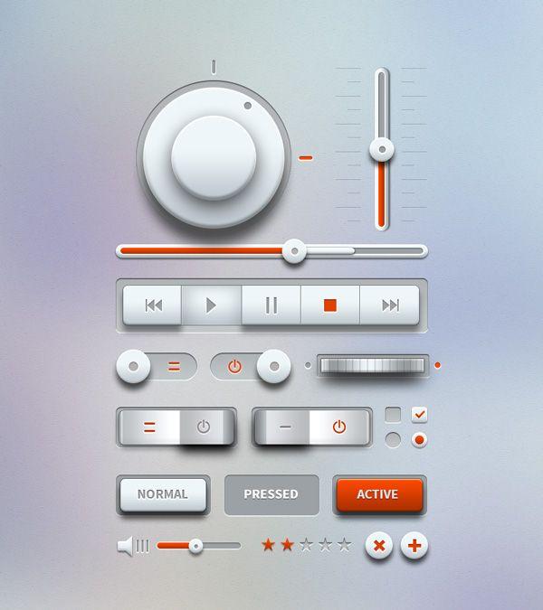 #Light #Music #UI #Design Kit, #3D, #Buttons, #Checkbox, #Free, #Knob, #Player, #PSD, #Radio, #Resource, #Slider, #Switch, #Toggle, #Vector, #Volume