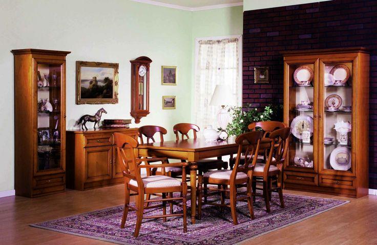 Grand jídelna s obdélníkovým stolem v tradičním stylu / traditional dining room