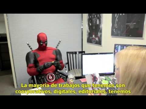 Deadpool visita las oficinas de Marvel Comics | SUB Español - YouTube