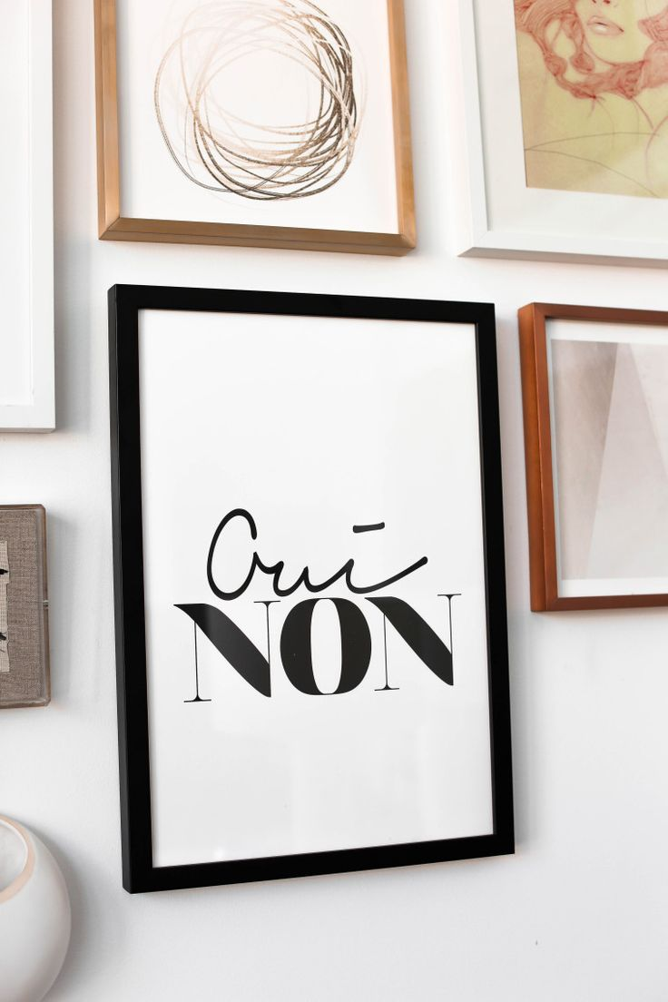 Gallery Wall In My Dining Room Oui Non Black Frame