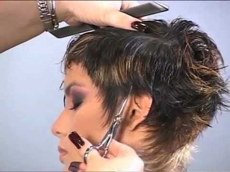 (Part 1 of 2) How to CUT and STYLE your HAIR like LISA RINNA Haircut Hairstyle Tutorial layered shag - YouTube
