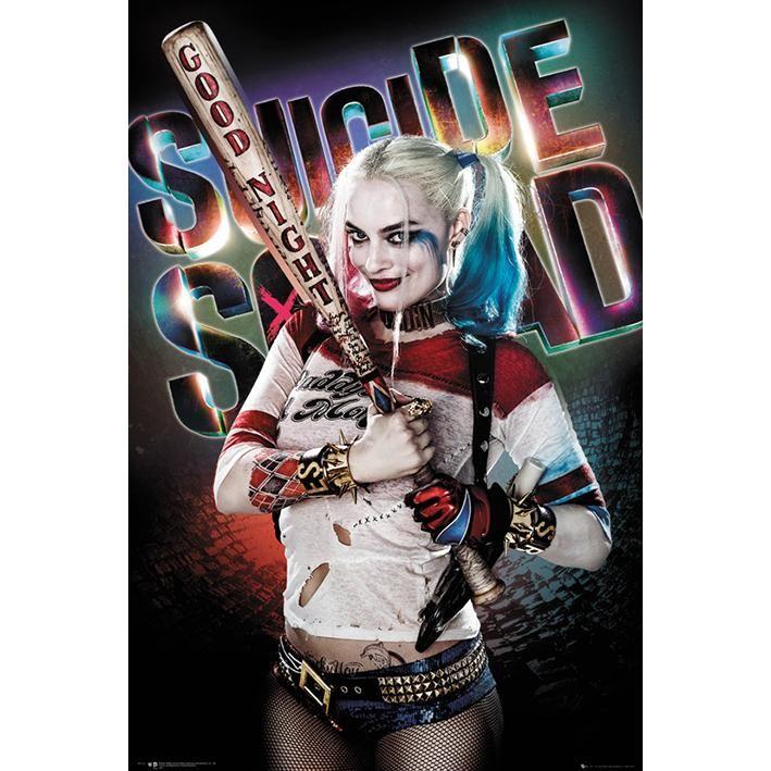 "Poster verticale ""Harley Quinn - Good Night"" di #SuicideSquad. Dimensioni: 61 x 91,5 cm."