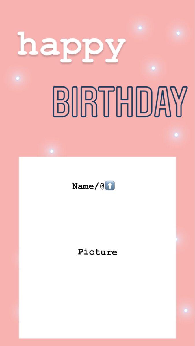Happy Birthday Instagram Story Template Kartu Ulang Tahun Bingkai Foto Desain Pamflet