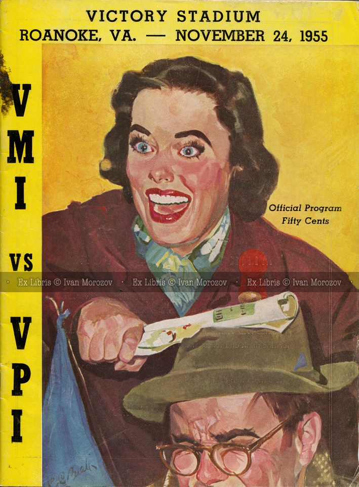 1955.11.24. Virginia Military Institute (Keydets) vs