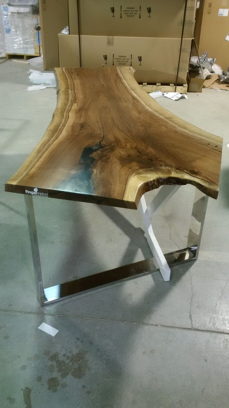 Walnut Slab Desk   One Of My Most Favorite Pieces I Have Made To Date