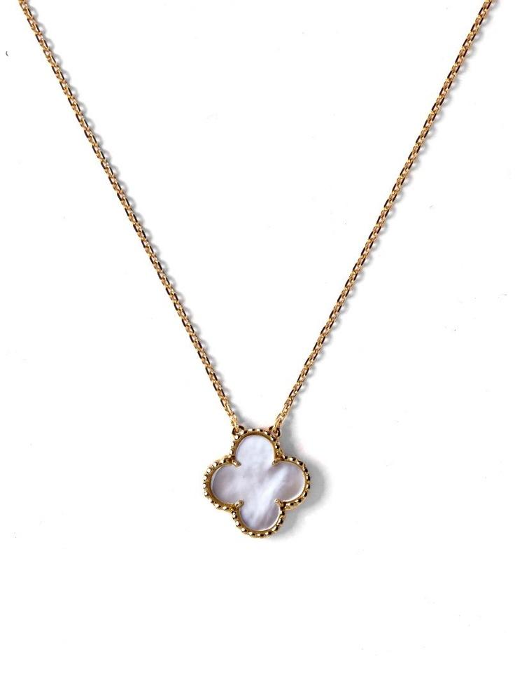 Van Cleef & Arpels 18k Vintage Alhambra Necklace at London Jewelers!